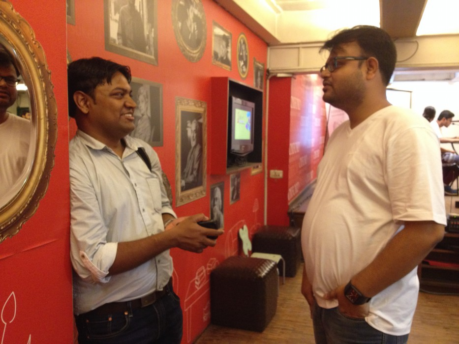 Subhadip Mukharjee and Sumit Surai at Wikilearnopedia 2015 at Oxford Bookstore Kolkata, India