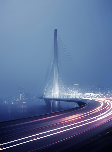 淡江大橋國際競圖結果公佈 英國女建築師Zaha Hadid 擔綱造型設計作品獲勝