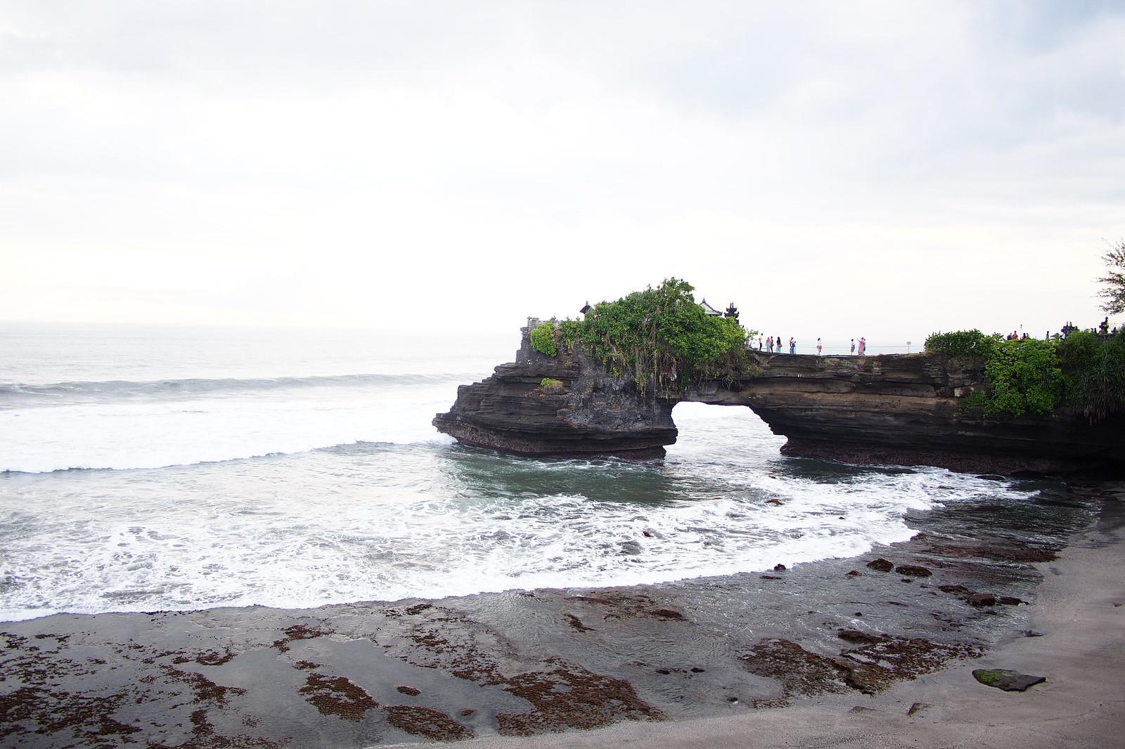 Close up of Pura Batu Bolong temple near Tanah Lot temple in Bali