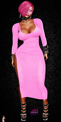 Side slit Dress Pink Vendor2