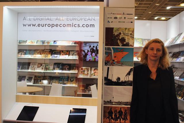 Sophie Castille (Europe Comics, responsable des droits Mediatoon) - Frankfurt Buchmesse 2015