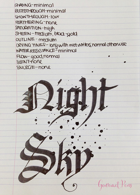 Ink Shot Review Diamine Night Sky (6)