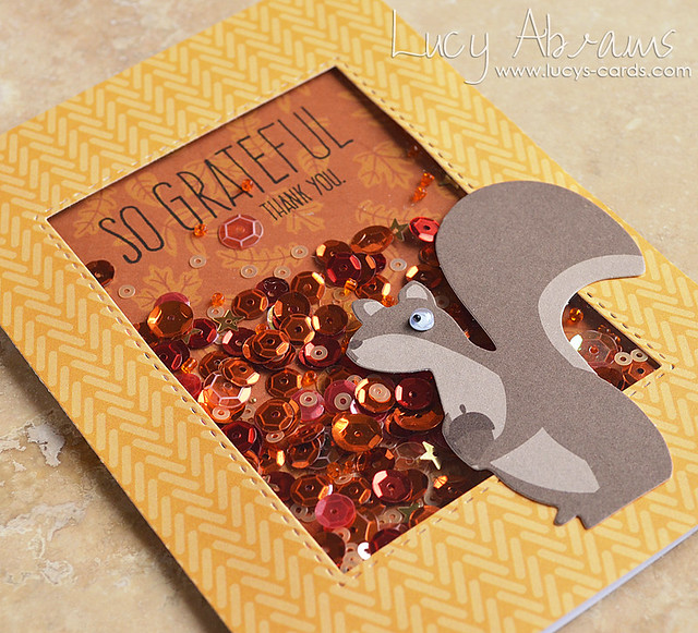 Grateful Squirrel 2 by Lucy Abrams