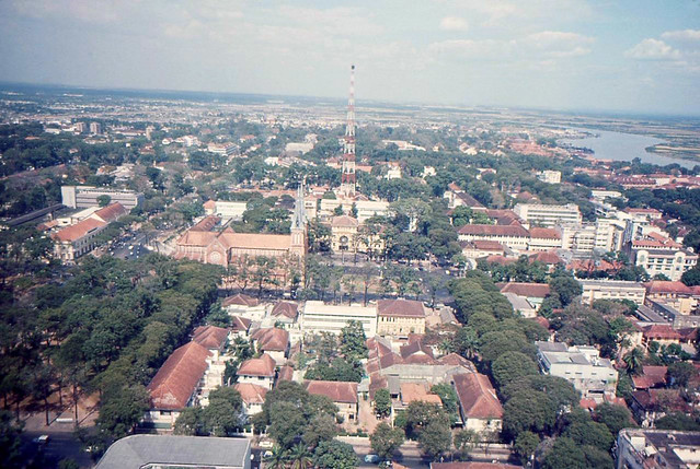 Saigon Aerial View 1965-66 - Cathedral & Central Post Office