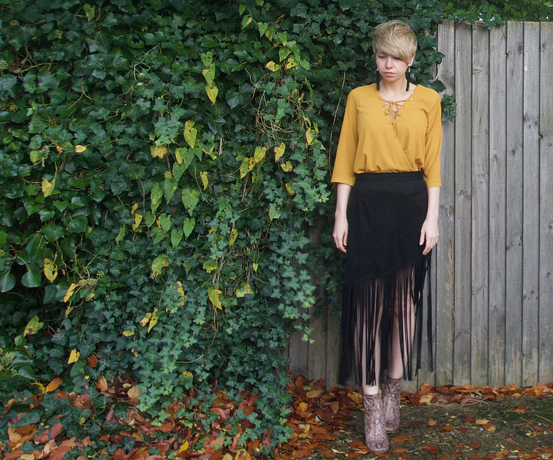 Sam Muses, UK Fashion Blogger, Stylist, London, Personal Style Blog, Tie-Front, Mustard, Yellow, Sock Boot, AW15, How to Wear, Outfit Ideas, Style Inspiration