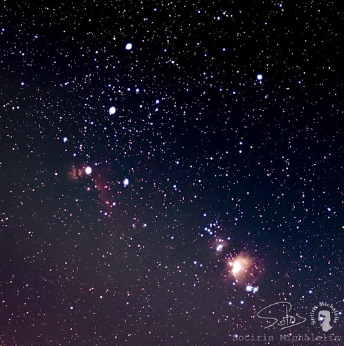 Orion belt and Orion nebula