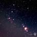 Orion belt and Orion nebula