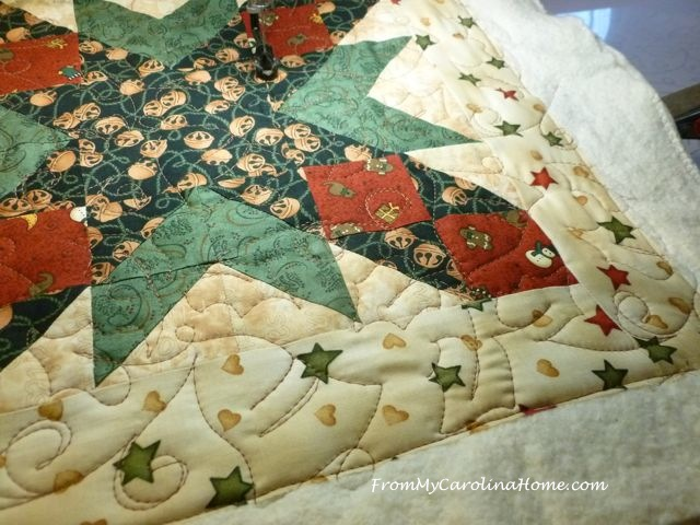 Christmas Quilt along quilting 4