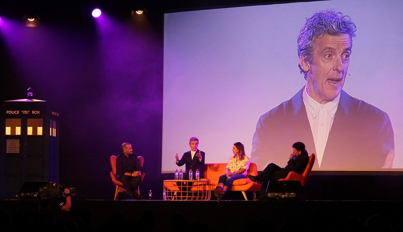 Doctor Who Festival Sydney: Adam Spencer with Peter Capaldi, Ingrid Oliver and Steven Moffat