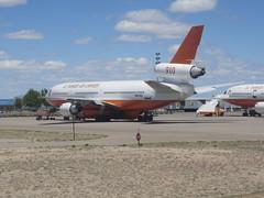 A DC-10 air tanker at ABQ (i.e. Albuquerque Int'l Sunport)