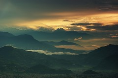Looking down at Pokhara. Nepal. by Thicks Aside