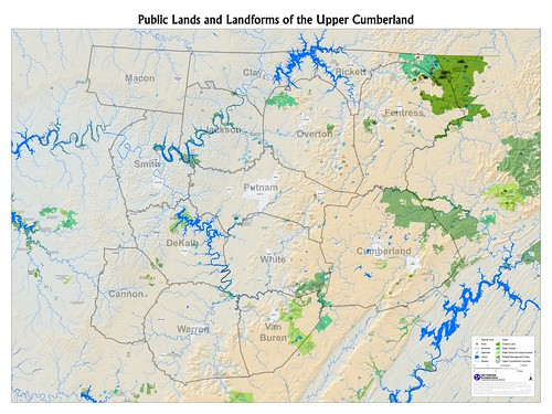 Public Lands and Landforms of the Upper Cumberland
