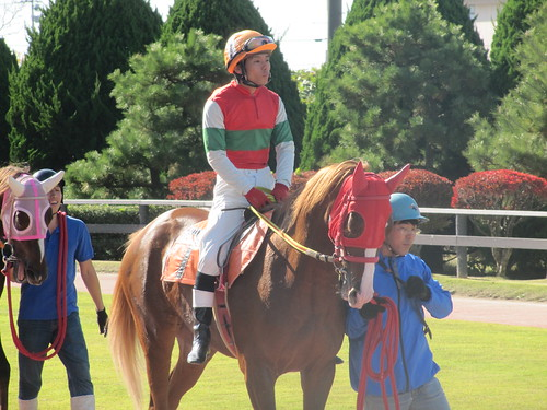 金沢競馬場の鈴木太一騎手。クロ。