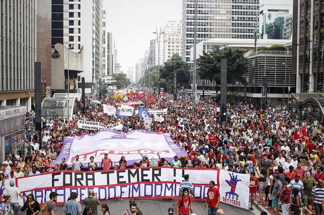 Ato contra a PEC 55 reuniu cerca de 40 mil pessoas em São Paulo - Créditos: José Eduardo Bernardes/ Brasil de Fato