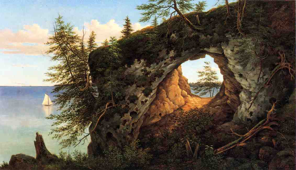 Fairy Arch, Mackinac Island by Henry Chapman Ford, 1874