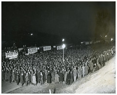 Hunger marchers gather at New York Ave. camp: 1932