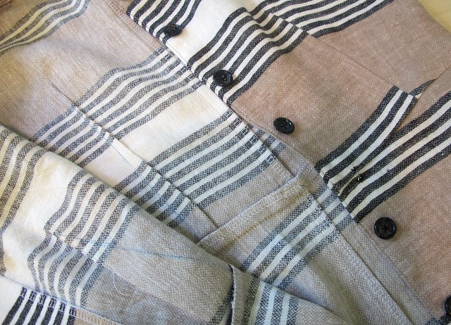 Striped Linen/Cotton Hawthorn