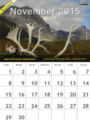 November 2015 National Parks Calendar: Gates of the Arctic National Park and Preserve