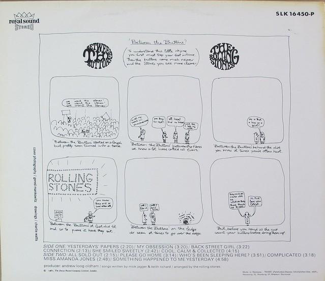 """Rolling Stones Between Buttons Germany 12"""" Lp Vinyl"""