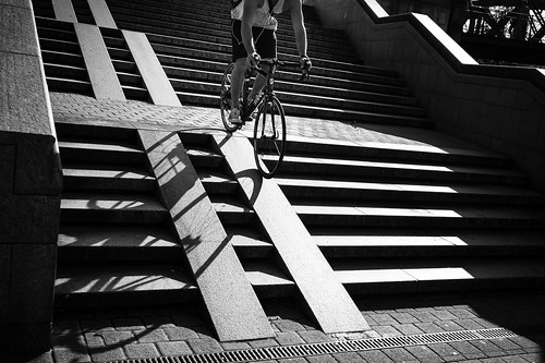 down the ramp