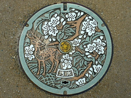 Nara city Nara pref, manhole cover (奈良県奈良市のマンホール)