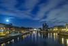 Moonrise over Notre-Dame by Alexandre Marah