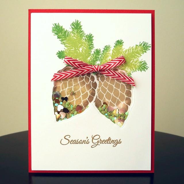 Season's Greetings by Jennifer Ingle #CASualFridaysStamps #MayArts #Christmas #JustJingle #cards