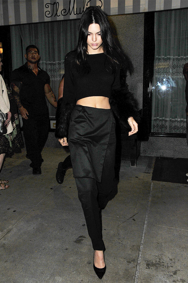 Kendall Jenner leaving Il Mulino in West Village, New York