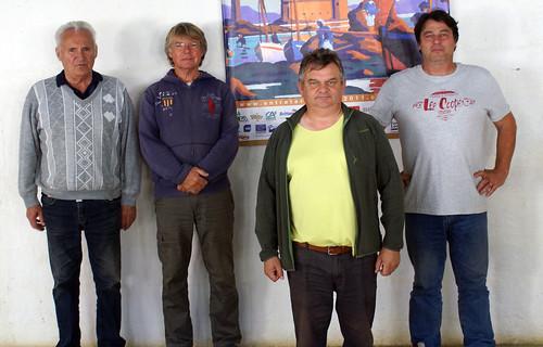 12/09/2015 - Plougasnou : Les finalistes du concours de boules plombées en doublettes formées