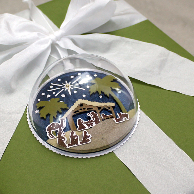Nativity Dome Orament On Gift