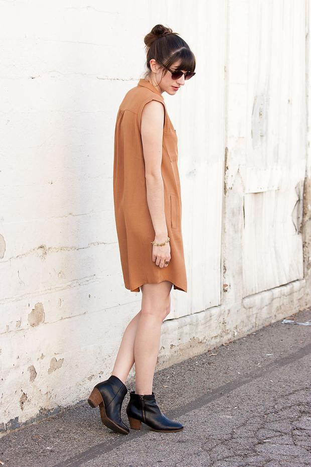 Copper Shirtdress, Greylin Dress