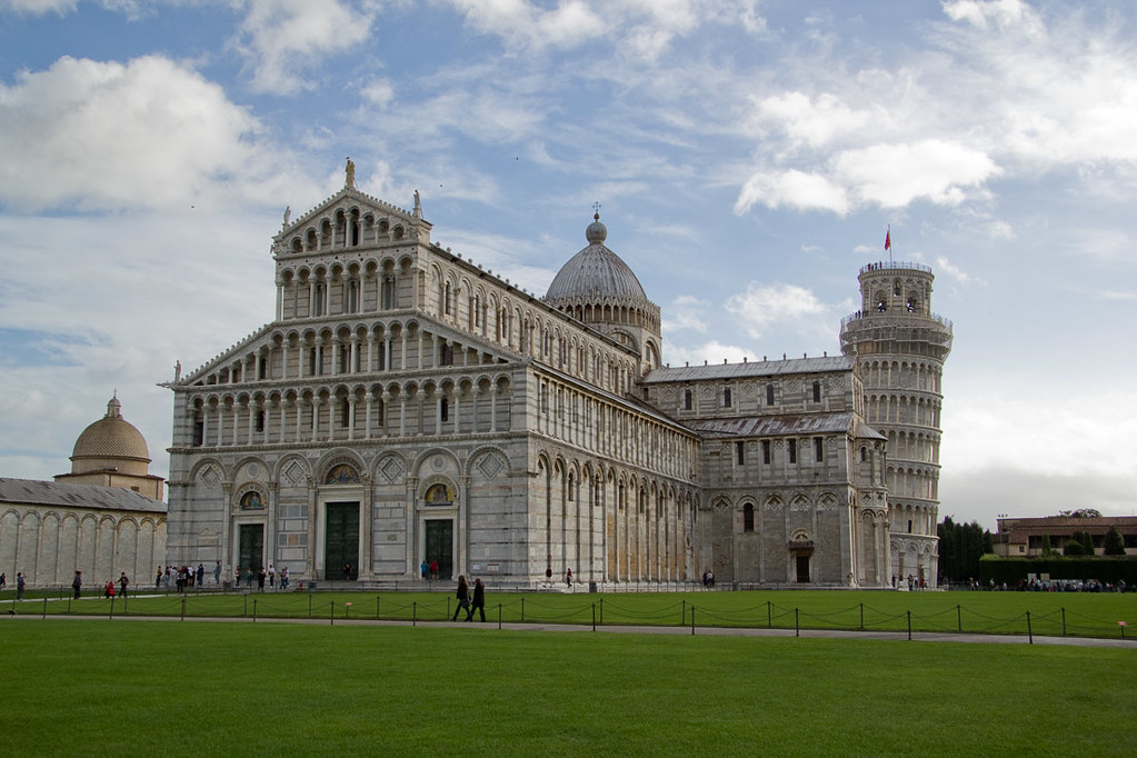 Duomo next to the Leaning Tower of Pisa