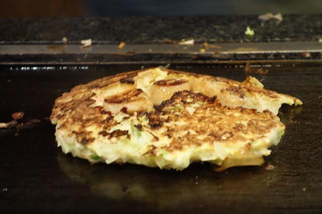 Okonomiyaki with scallops