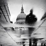 Tall dark stranger, St Pauls, London