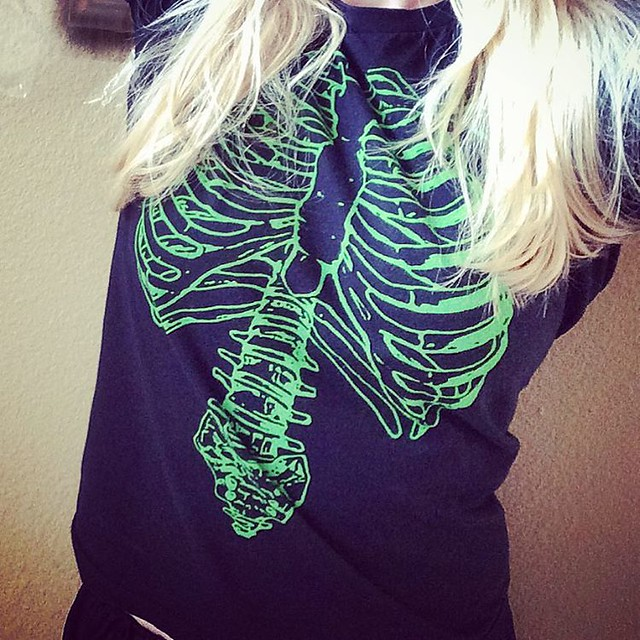 Skeleton tee Tuesday. 💀💚