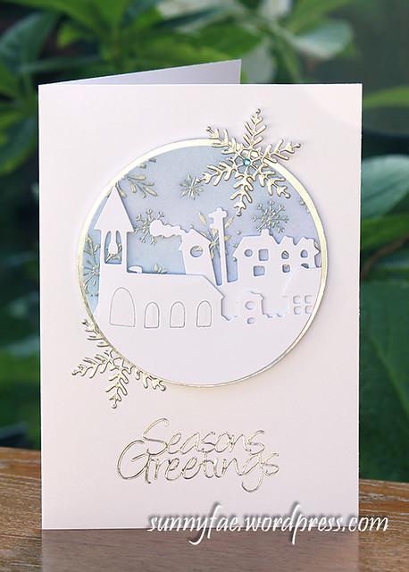 Village Scene Christmas Card