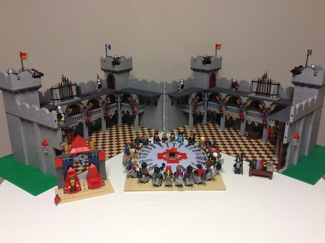 Moc round table hall lego historic themes eurobricks forums - Knights of the round table lego ...