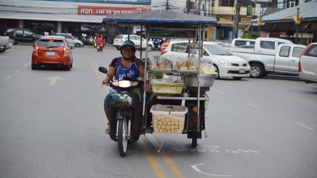 Food car attached to scooter