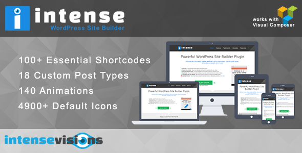 Codecanyon Intense v2.6.2 - Shortcodes and Site Builder for WordPress