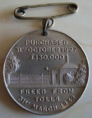 Gainsborough toll bridge freeing medal reverse