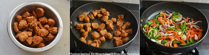 How to make Soya Chunks Capsicum Masala Recipe - Step2