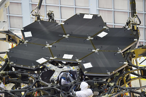 Six Installed James Webb Space Telescope Mirrors