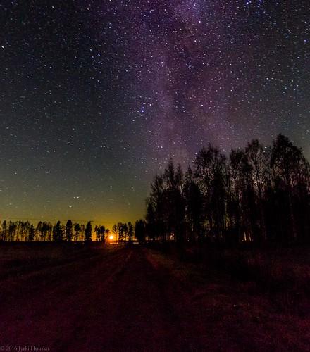 moon milkyway galaxy night nature outdoors stars