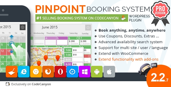 Pinpoint Booking System PRO v2.2.7 - Book everything with WordPress