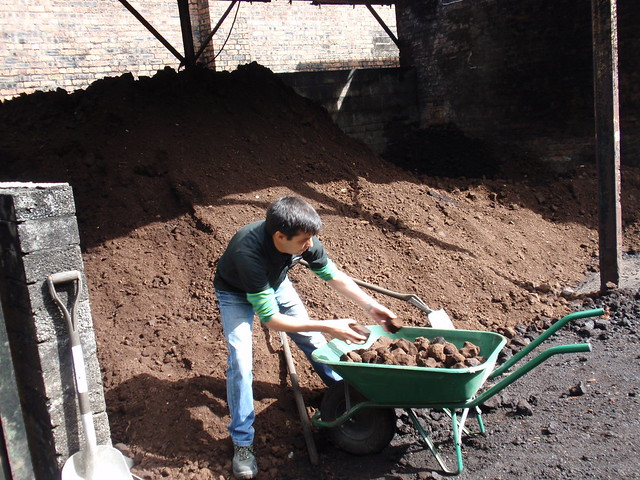 Collecting peat at Springbank distillery