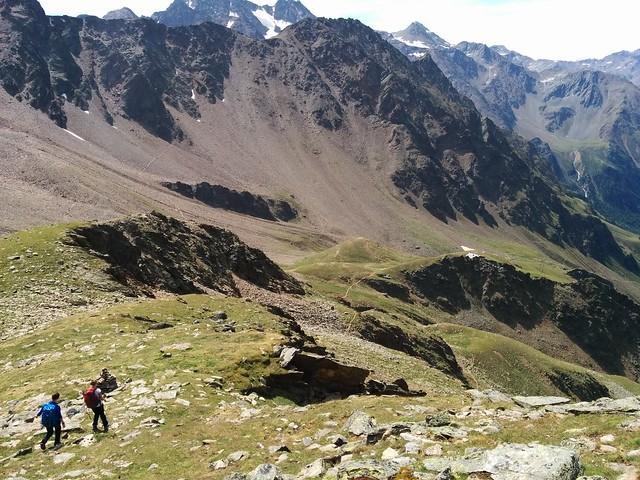 Abstieg Weißkugel Richtung Oberetteshütte