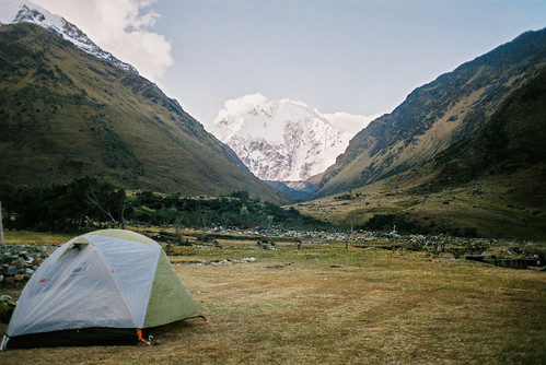 mountains peru campsite salkantaytrek