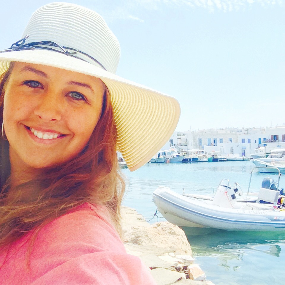 Lady in Paros, Greece