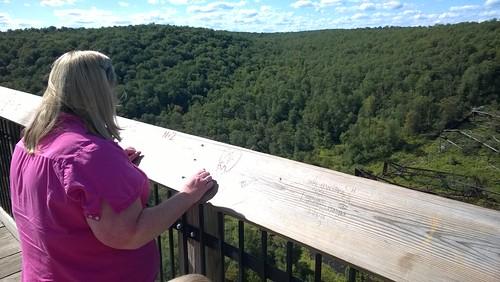 bridge pennsylvania scenic pa cheryl kinzua fitzpatrick kinzuabridgestatepark