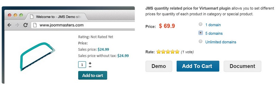 JMS quantity related price
